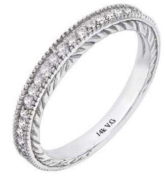 Wedding band w/ .24ctw in diamonds