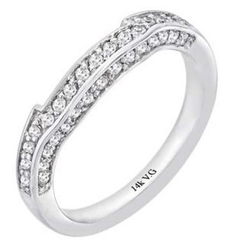Wedding band w/ .34ctw in diamonds